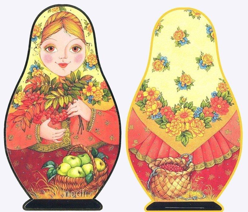 "Схема вышивки  ""Матрёшка "": таблица цветов."