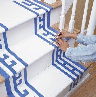 Роспись лестницы
