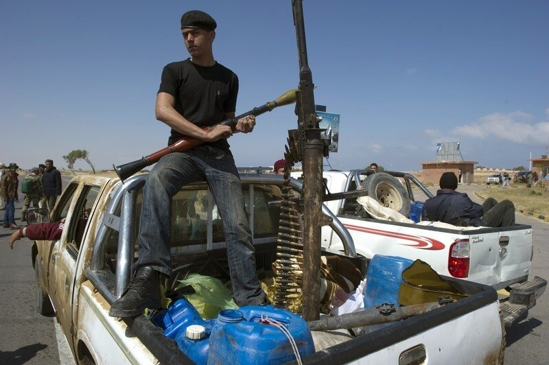 Rebel fighters arrives at university of