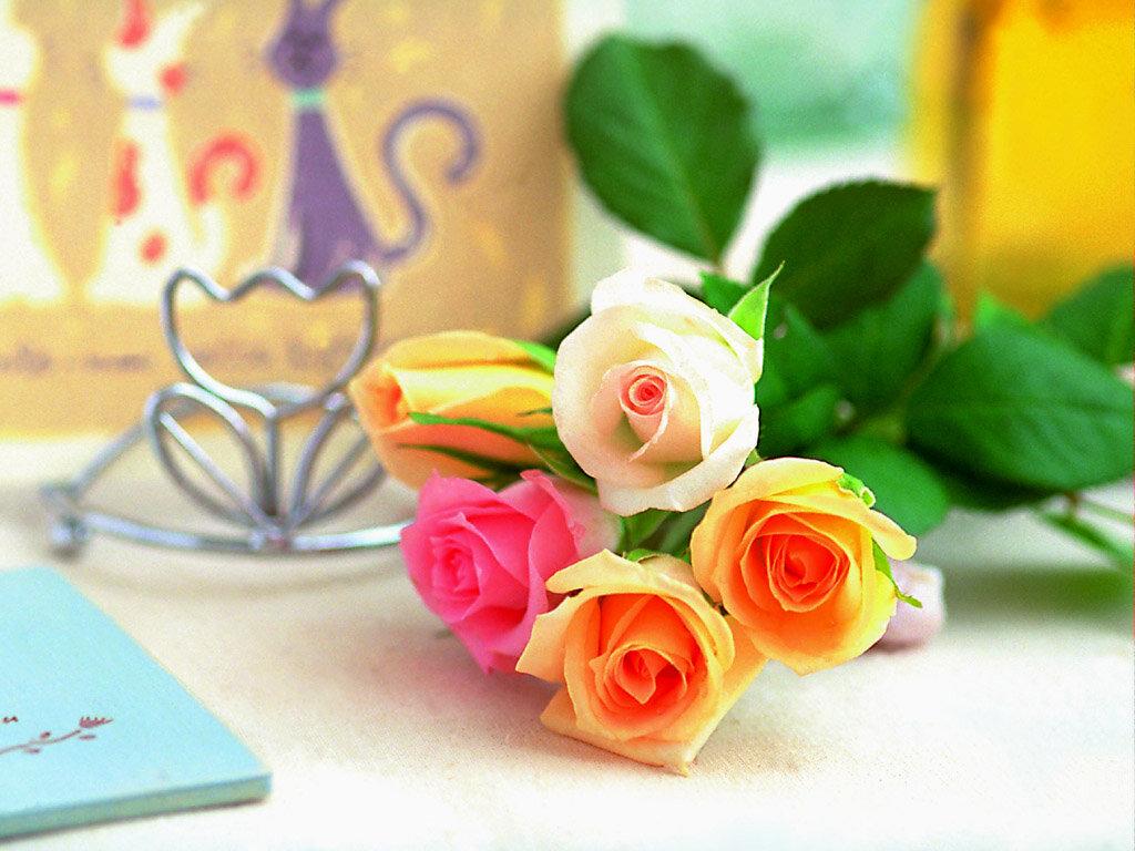 Текстом, цветочное настроение открытка
