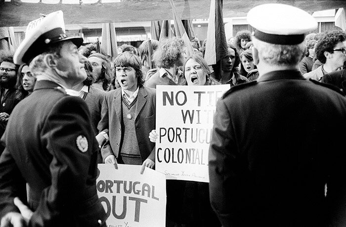 Portugal Out Protest Melbourne 1973