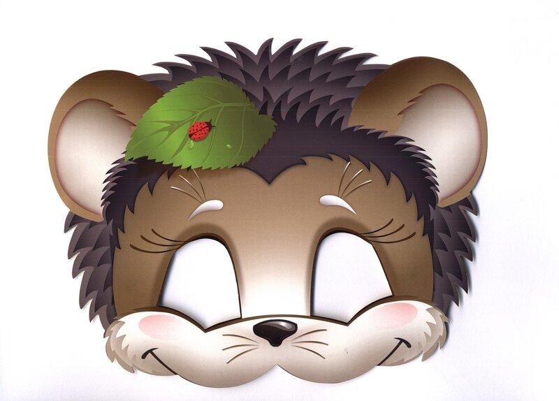 Шапочки маски животных для детей на голову распечатать картинки