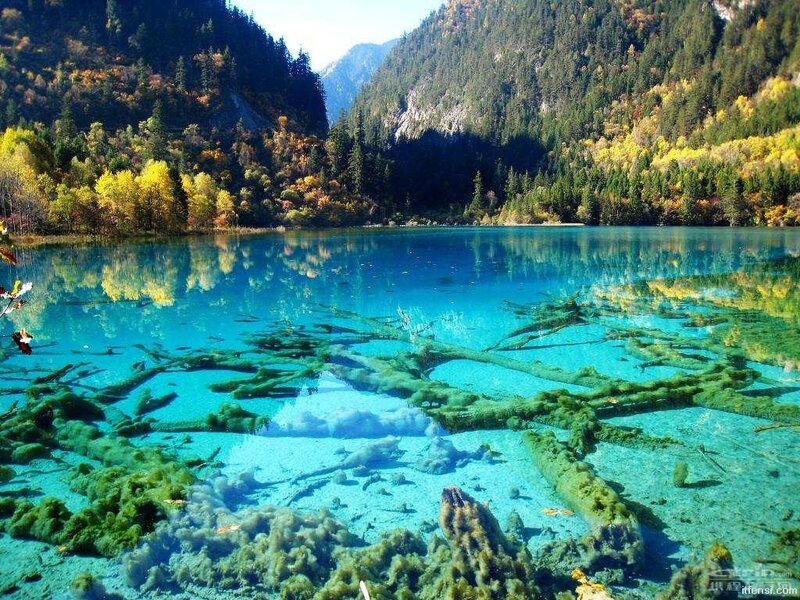 Бирюзовое озеро, Национальный парк Цзючжайгоу, Китай