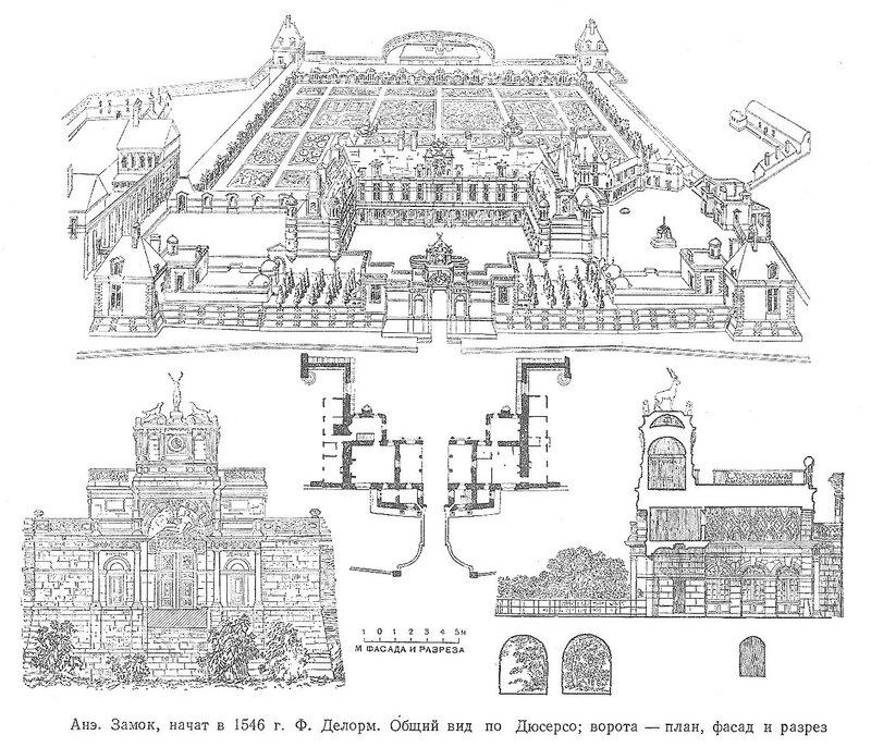 Замок Анэ, чертежи