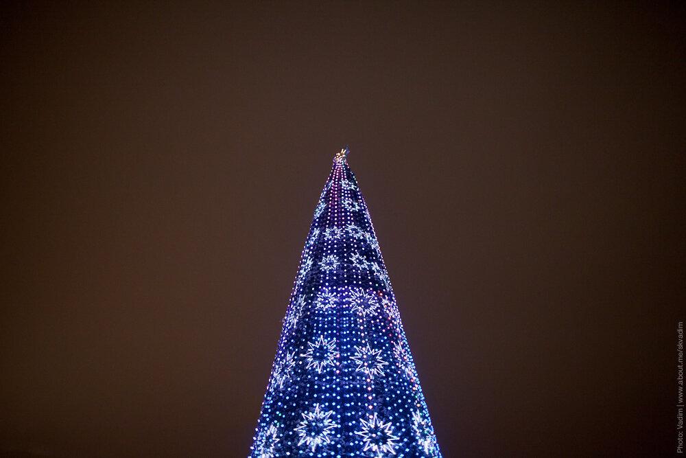 Новогодняя ёлка «Мультицветная» на Воробъёвых Горах