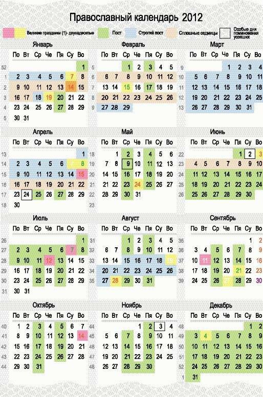 церковные праздники в 2013 года:
