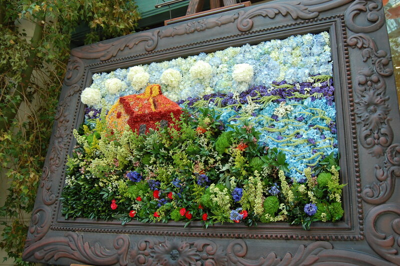 картины из цветов живых фото
