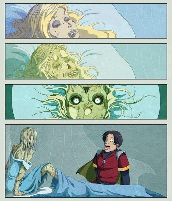 Альтернативная концовка спящей красавицы ..
