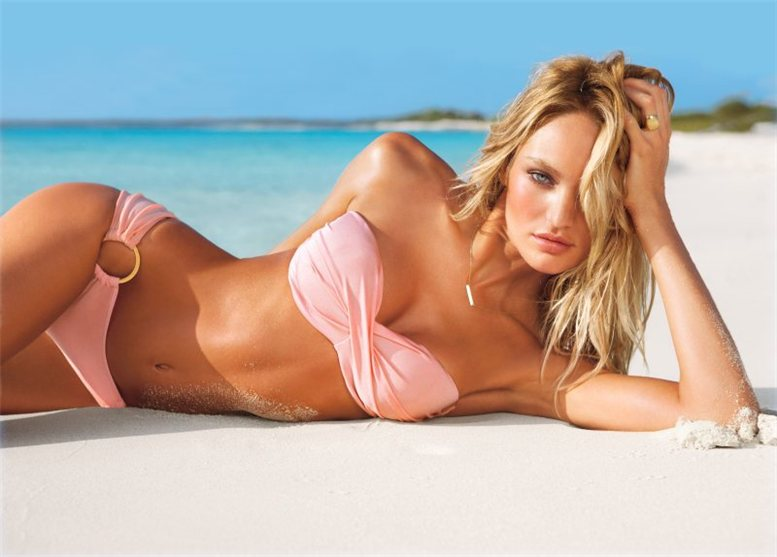 Candice Swanepoel, Alessandra Ambrosio, Edita Vilkeviciute and Lily Aldridge for Victorias Secret Swim 2012