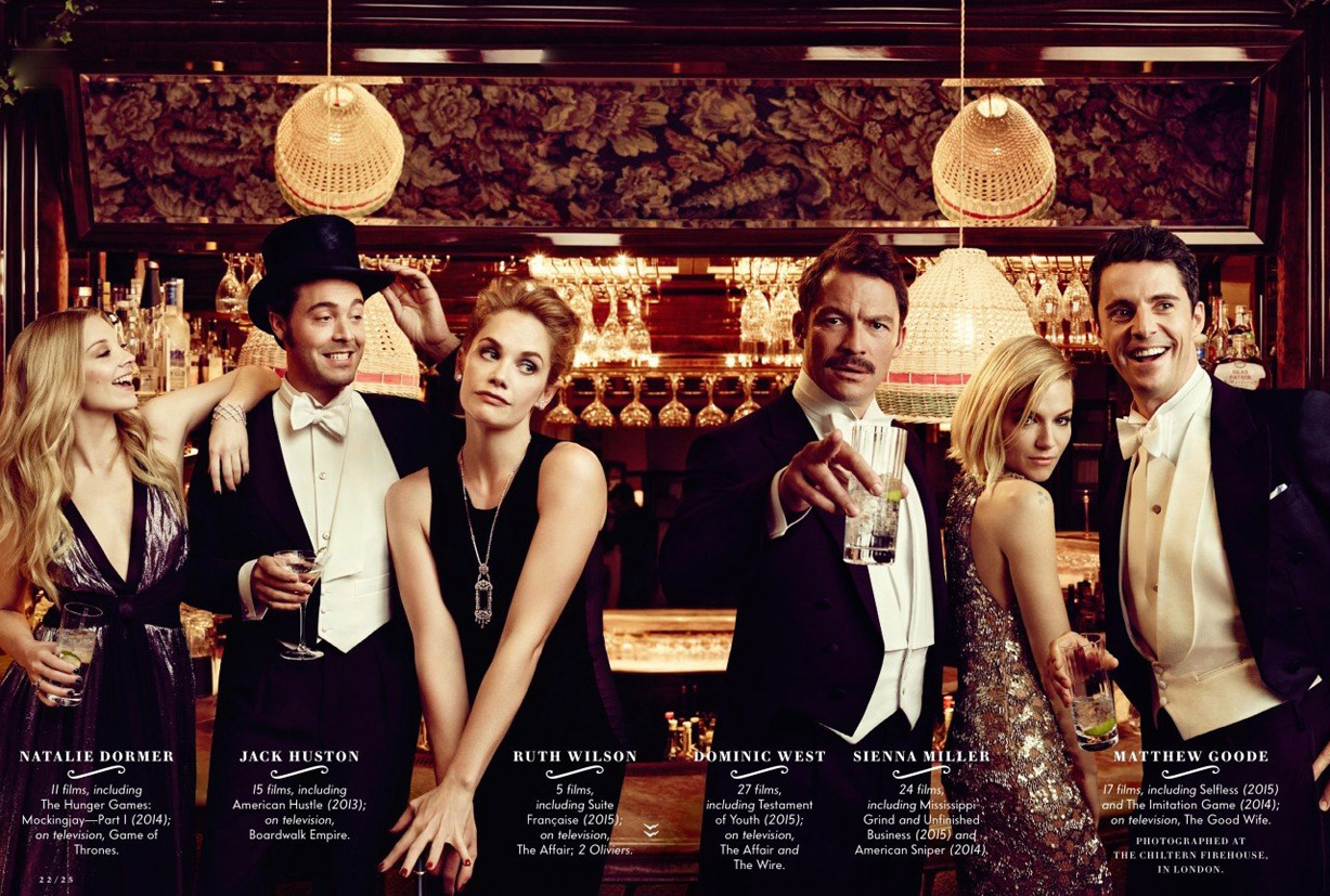 Лучшие британские актеры в проекте The 2015 Hollywood Portfolio by Jason Bell in Vanity Fair march 2015 - Натали Дормер, Джек Хьюстон, Рут Уилсон, Доминик Уэст, Сиенна Миллер, Мэттью Гуд / Natalie Dormer, Jack Huston, Ruth Wilson, Dominic West, Sienna Miller, Matthew Goode