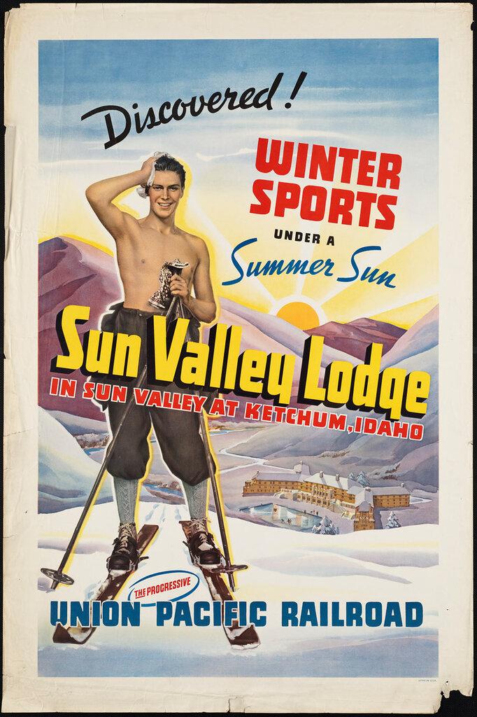 Travel posters Ketchum, Idaho 1910-1959
