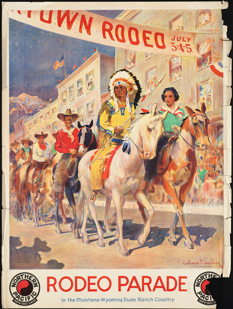 Travel posters Montana-Wyoming by Brewer, Edward Vincent 1940-49