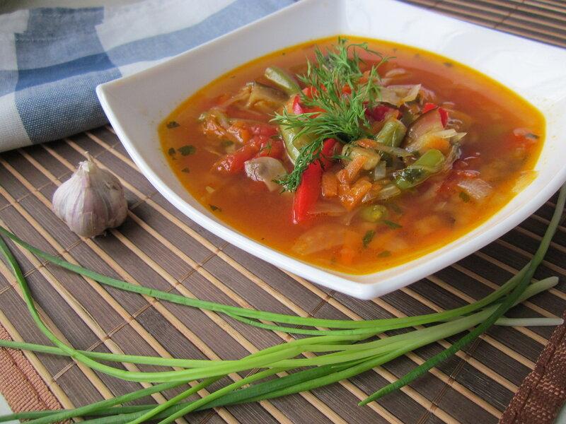 Суп с зеленой фасолью рецепт