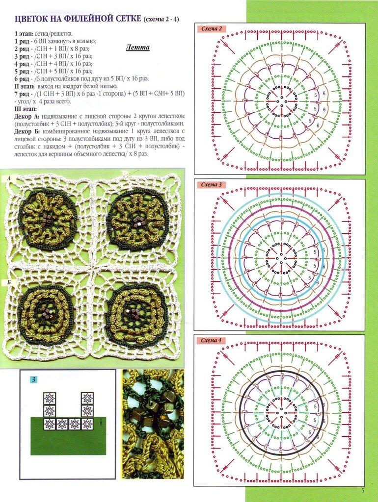 Круглый бабушкиным квадратом схемы