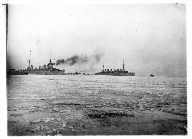1919. Одесса. Французские корабли в порту