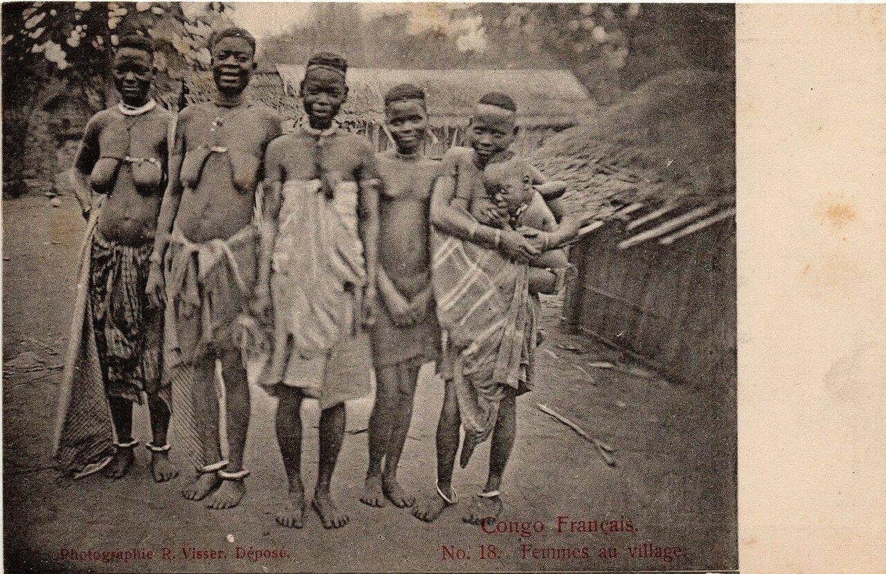 Французское Конго. Женщины в деревне