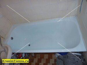 После эмалировки ванна выглядить как новая