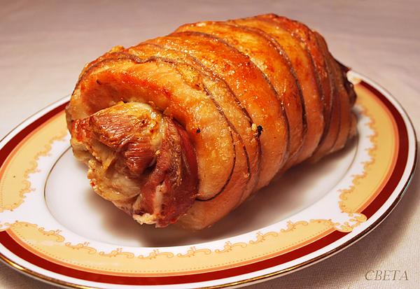 Рулет из свинины и говядины рецепт
