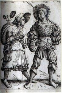 Хопфер, Даниэль.(1470-1536); Солдат и его жена.