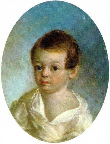 Местр. Александр Сергеевич Пушкин в младенчестве. (1800—1802)
