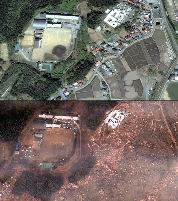Soccer field in Minamisanriku