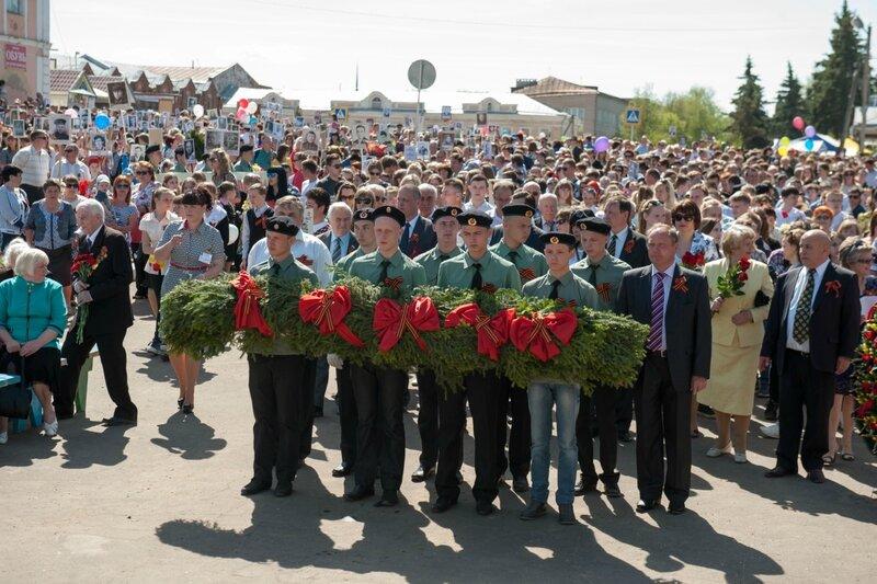 Бессмертный полк в городе Кашин