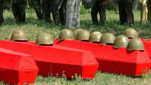 Останки 19 солдат Красной армии перезахоронили в Шерпень
