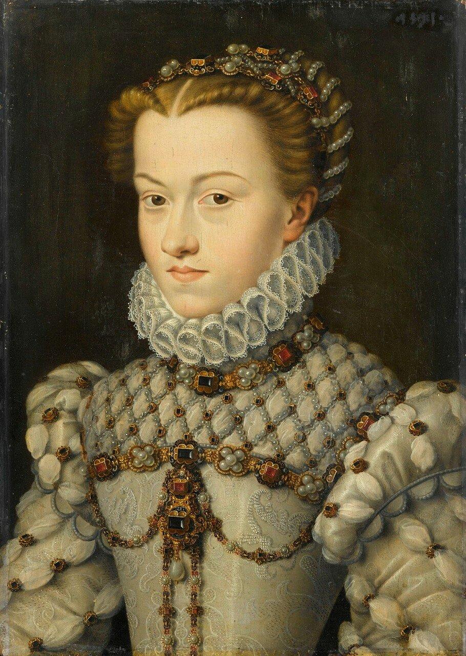 1016Портрет Елизаветы Австрийской, королевы Франции_ок.1571_37 х 25_д.,м._Шантильи, музей Конде.jpg