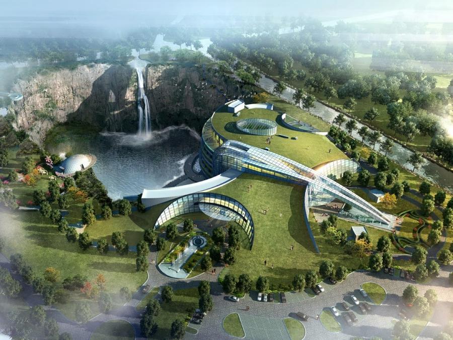 11. Отель «Сонджанг» Этот великолепный отель будет построен прямо на стенах карьера, а по его фасаду