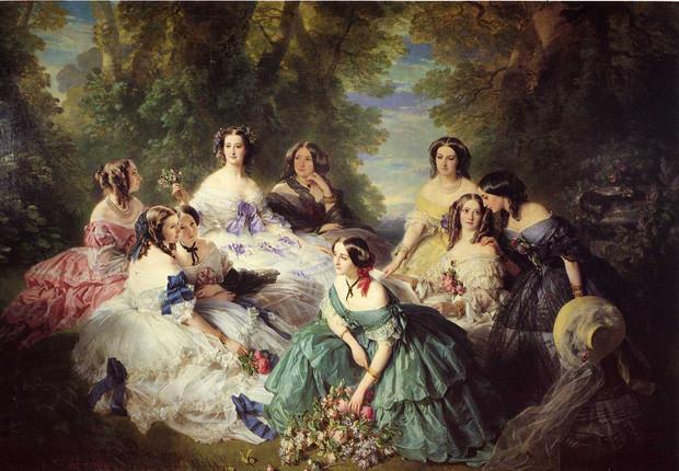 Кринолины были популярны в XIX веке в Англии. За десятилетие, с 1860 по 1870 год, от