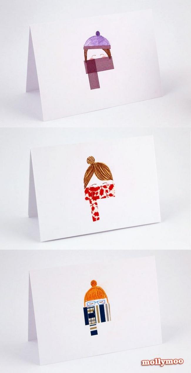 © mollymoocrafts  Открытки для настоящих девочек, которые знают, как уютно вмороз спрятать но