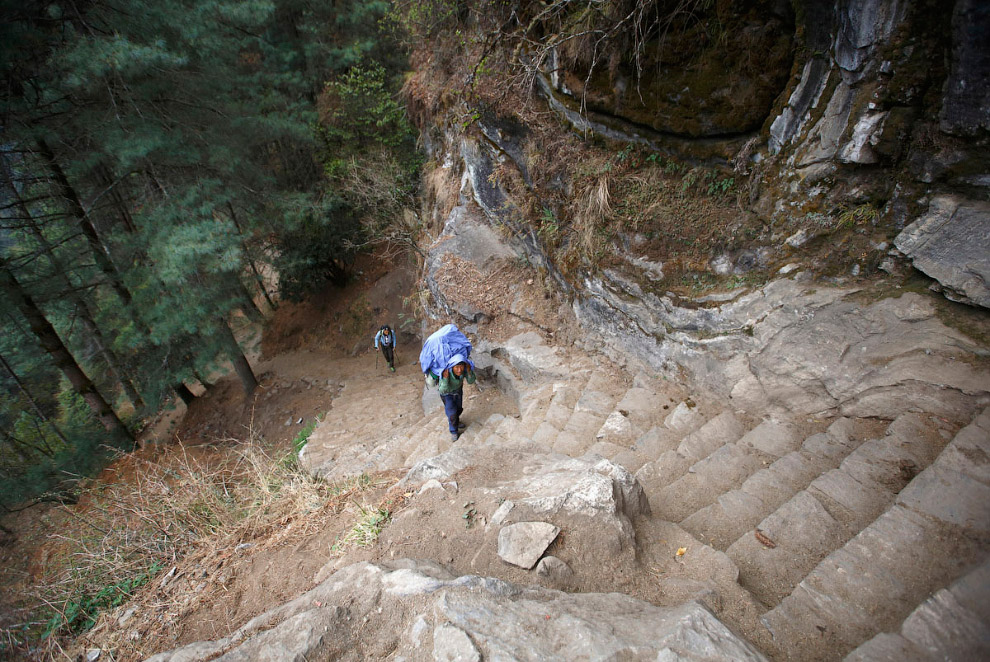 13. Гора Конгде-Ри высотой 6 187 метров. (Фото Navesh Chitrakar | Reuters):