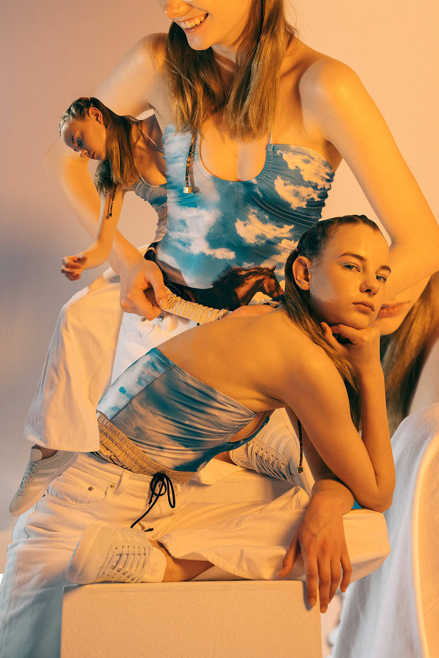 Коллажный лукбук коллекции Adidas Gazelle 2016