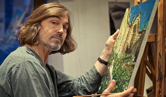 Никас Сафронов подарил губернатору Кузбасса две картины