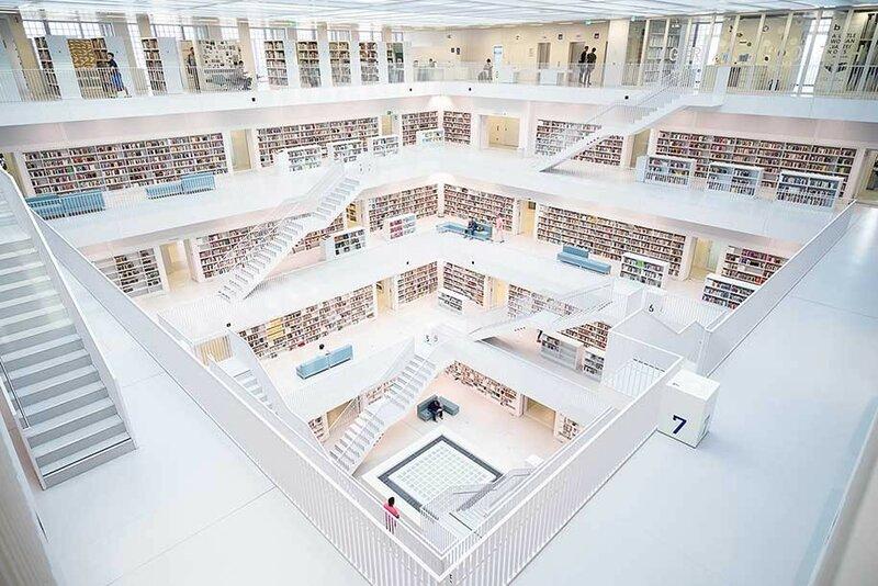 Городская библиотека, Штутгарт, Германия.