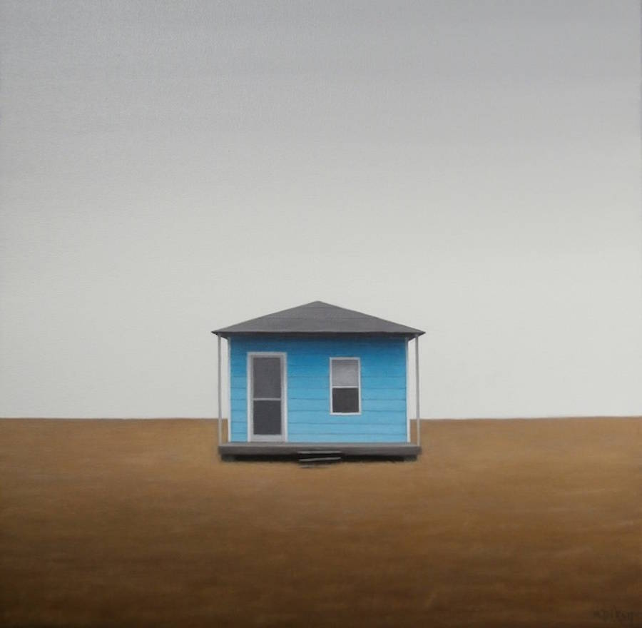 Lonely Houses in Empty Landscapes Oil Paintings