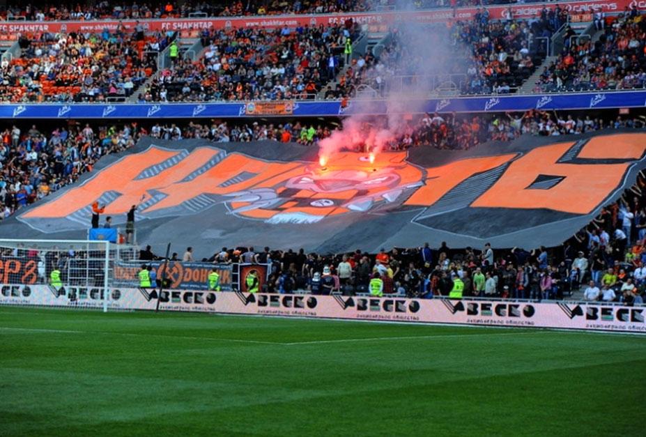 Soccer tifos / Гигантские баннеры футбольных болельщиков со со стадионов по всему миру - Шахтер