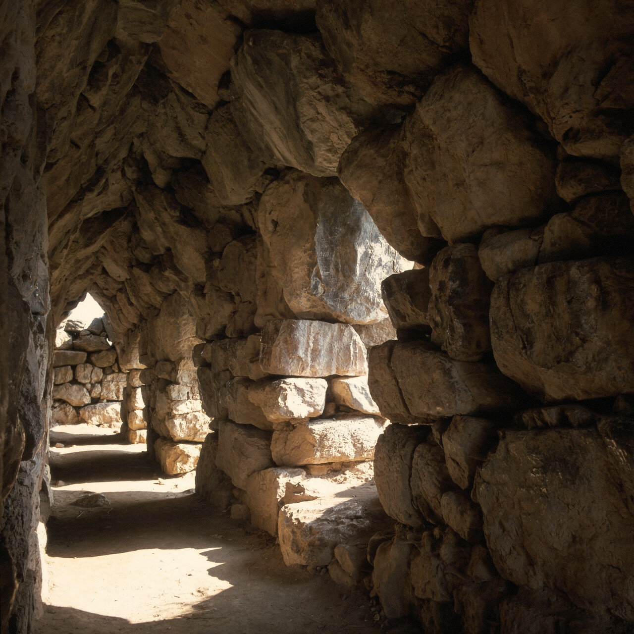 Тиринф. Цитадель. Восточный каземат XIV в. до н.э.