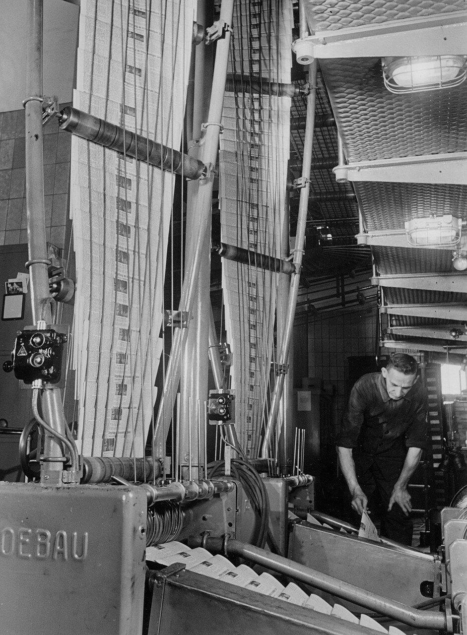 Гамбург. Вид офсетной печатной машины Koenig & Bauer AG