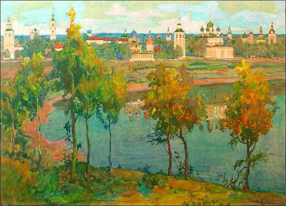 Старый Углич. Ранняя осень 1924 г. Бучкин Пётр Дмитриевич(1886-1965)