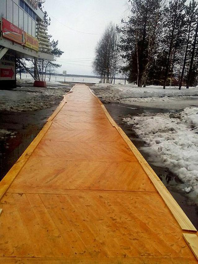 Паркет в Архангельске к приезду Путина(2)