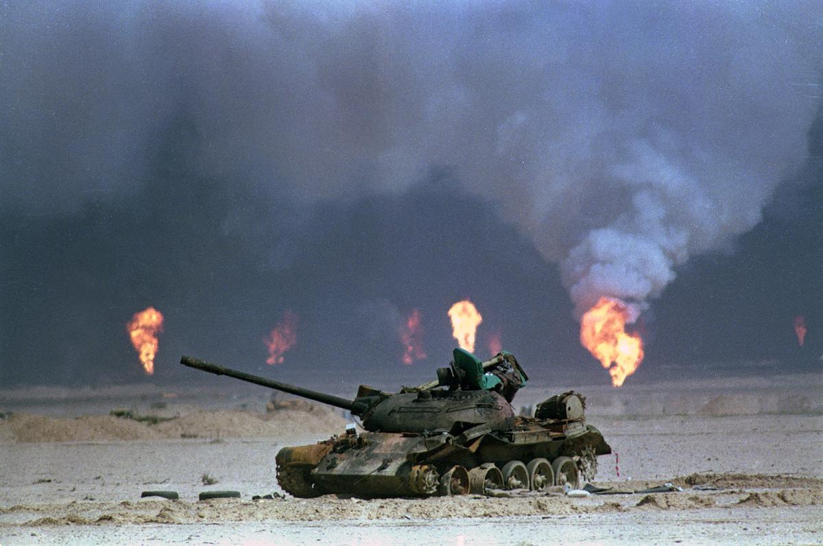 GULF WAR IRAQI TANK