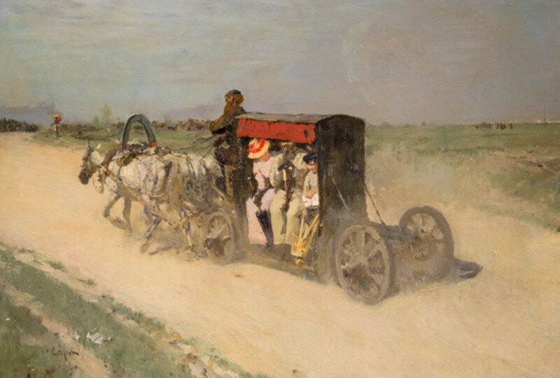 1892 Линейка из Москвы в Кузьминки. В.А.Серов.jpg