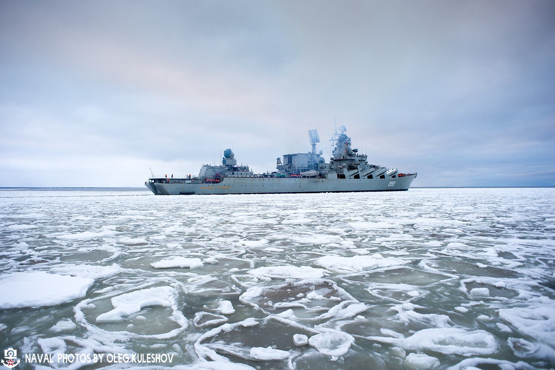 Ракетный крейсер Маршал Устинов прибыл в Североморск
