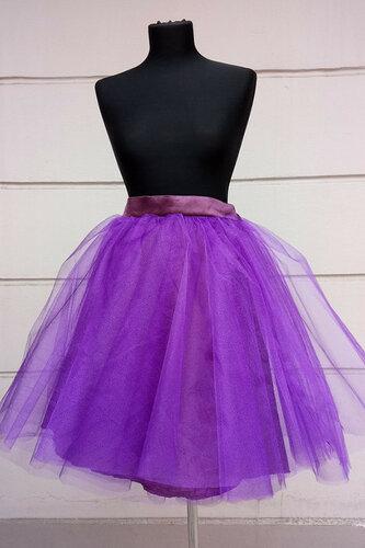 Женский карнавальный костюм Юбка фиолетовая