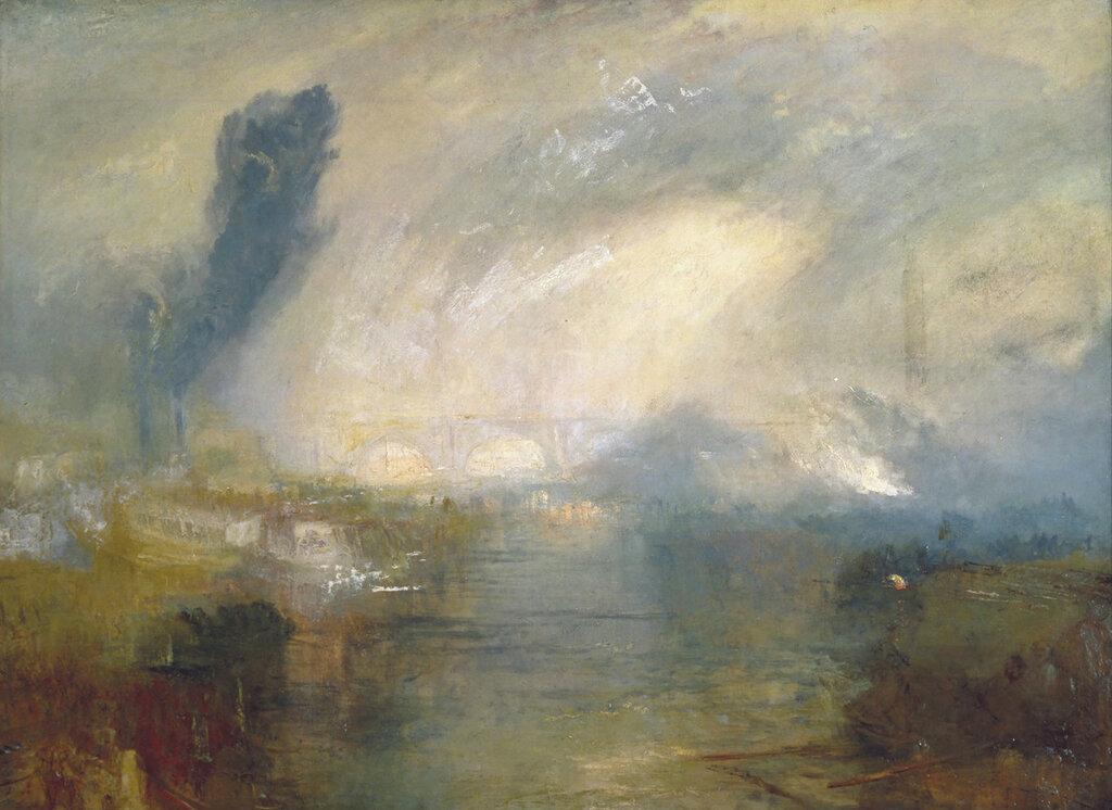 Темза выше  моста Ватерлоо 1830 Джозеф Мэллорд Уильям Тернер
