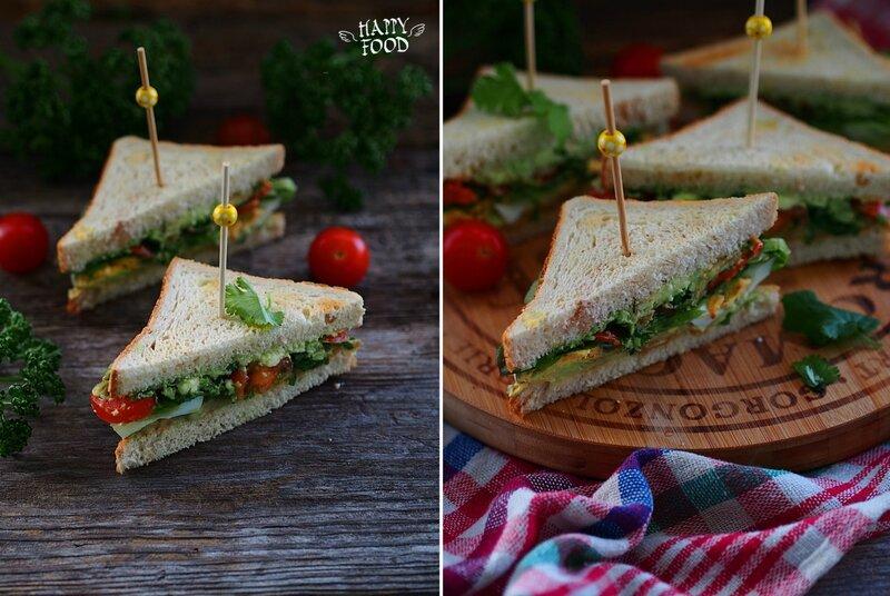 Утренние сэндвичи с авокадо и яйцом