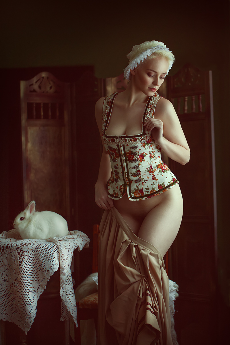Белый кролик - модель Анна / фото Шаповалов Павел