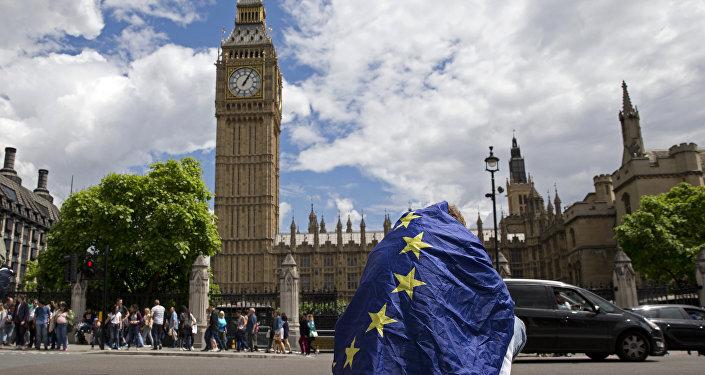 Вид на здание правительства в Лондоне