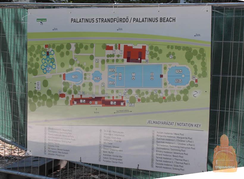 Схема пляжа Палатинус